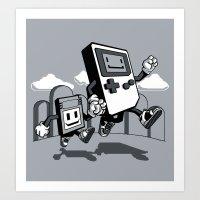 Handheld Mono Art Print