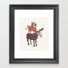 X-Moose Tree Framed Art Print