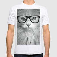 THE HIPPEST CAT Mens Fitted Tee Ash Grey SMALL