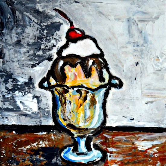 Sweet Treats Still Life: Ice Cream Art Print
