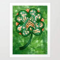Victorian Shamrock With … Art Print