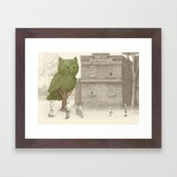 The Night Gardener - The Owl Tree Framed Art Print