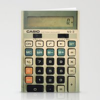Calculator Stationery Cards