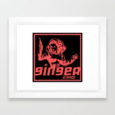 ginger in space Framed Art Print