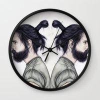 Beard & Top Knot Wall Clock