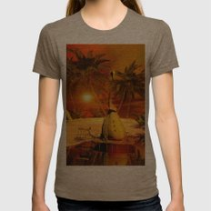 Sunset Womens Fitted Tee Tri-Coffee SMALL