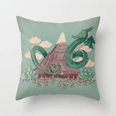 The Not-So-Lonely Mountain Throw Pillow