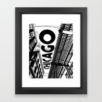 Cities in Black - Chicago Framed Art Print