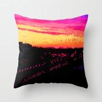 Train City Throw Pillow