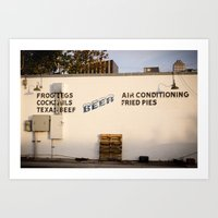 Frog Legs And Fried Pies Art Print