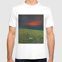 free Mens Fitted Tee White SMALL