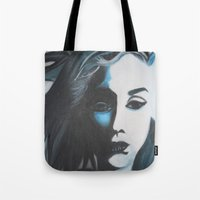 Women In Blue Tote Bag