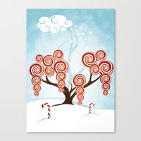 Magic Candy Tree - V3 Canvas Print