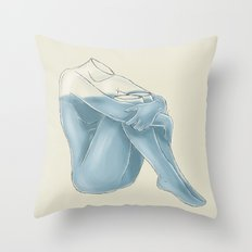 72.8 Percent Water Throw Pillow