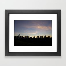 New York Skyline at Dusk  Framed Art Print