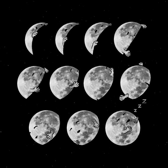 lunar phases of sleep Art Print
