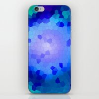 Aqua Stained iPhone & iPod Skin