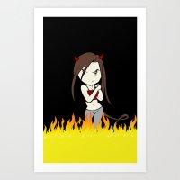 Démon Art Print