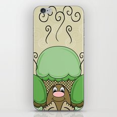 Cute Monster With Green And Yellow Frosted Cupcakes iPhone & iPod Skin