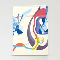 Stationery Card featuring Diamonds, Hoses, Stairs, and Light by Robert Cooper