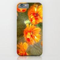 Orange Poppy Abstract iPhone 6 Slim Case