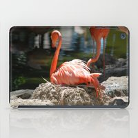 Sitting Flamingo iPad Case