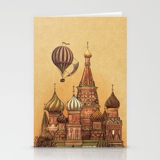 Trip to Moscow Stationery Card