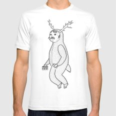On the inconveniences of dressing up as an animal. SMALL White Mens Fitted Tee