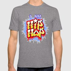 HIP-HOP Mens Fitted Tee Tri-Grey SMALL