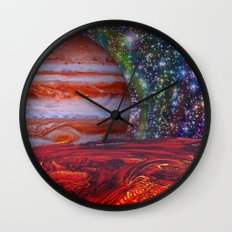Looking At Jupiter Wall Clock