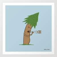 Tree Cough Art Print