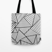 Abstraction Lines Close … Tote Bag
