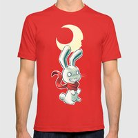 Moon Bunny 2 Mens Fitted Tee Red SMALL