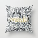 Pardon My French – Black & Gold Throw Pillow