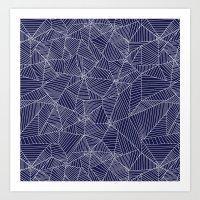 Spiderwebs - Webs On Nav… Art Print