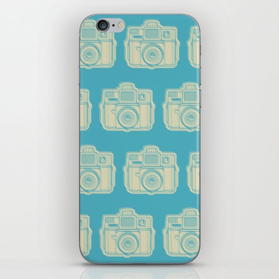 I Still Shoot Film Holga Logo - Turquoise/Tan iPhone & iPod Skin