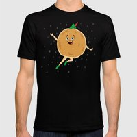 Peter Pancake Mens Fitted Tee Black SMALL