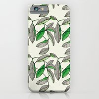iPhone & iPod Case featuring Watercolor Leaves by Marina Molares
