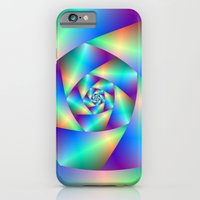 iPhone & iPod Case featuring Spiral in Blue and Purple by Objowl