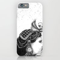 iPhone & iPod Case featuring 1920s Circus Queen by Red Lady Locks