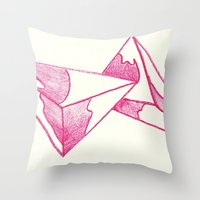 CRAYON LOVE: Strawberry Milk From The FUTURE Throw Pillow
