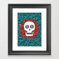 Skull Poppy Framed Art Print
