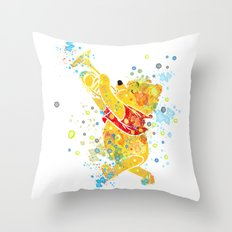 Winnie The Pooh Watercolor Art Throw Pillow