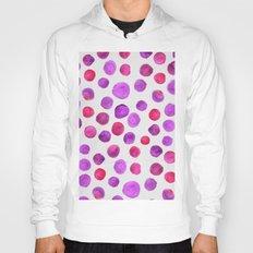 Painted polka pink & purple Hoody