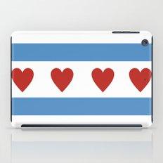 chicago love flag iPad Case