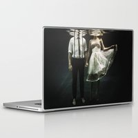 water Laptop & iPad Skins featuring abyss of the disheartened : IV by Heather Landis