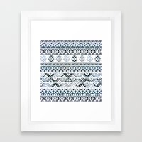 GEO TRIBAL N. // GRAY VERSION Framed Art Print