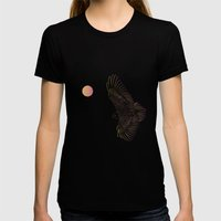 Eagle Queen Womens Fitted Tee Black SMALL