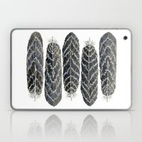 Black Stripe Feathers Laptop & iPad Skin