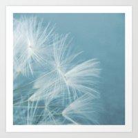 Powder blue Art Print